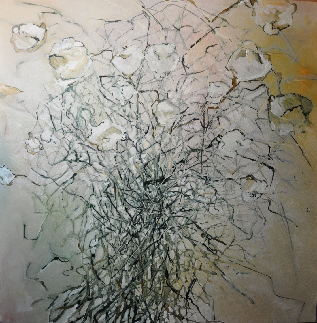 Valentines Tangle 24 by 24 Oil on Canvas
