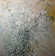 Valentines Tangle 24 by 24 oil on canvas 750.00