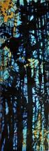 Deep Dark 7 , 2014, 8 by 24, acrylic on panel board sold