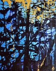Deep Dark 4, 2014, 10x8, acrylic on cradle board SOLD