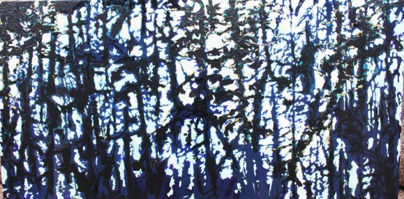 Deep Dark Blur, 2015, 12 by 36 SOLD