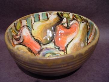 Fruits of Labour, The Gaze, clay, lustre, glaze, oxides, underglaze