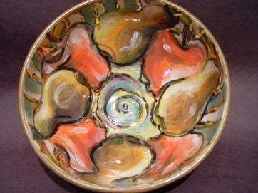 Fruits of Labour, the clay, lustre, glaze, oxides, underglaze