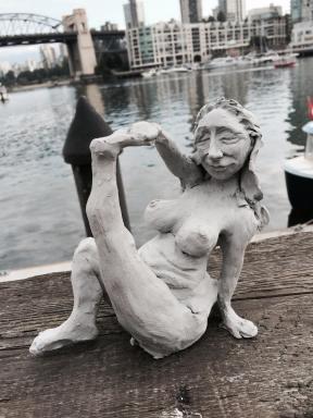 Yoga Lady on Granville Island, NFS