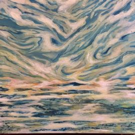 SOLD New Horizons... 24 by 24, Acrylic on Canvas -550.00