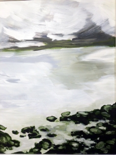 December Shore Show, 8 by 10, oil on panel, 175.00