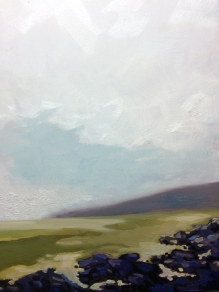 Dusk December Style, 8 by 10, oil on panel. 175.00