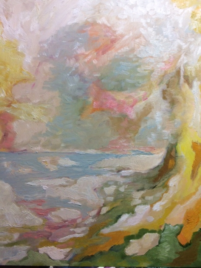 Hot Coast Memory, 8 by 10, oil on panel, 175.oo
