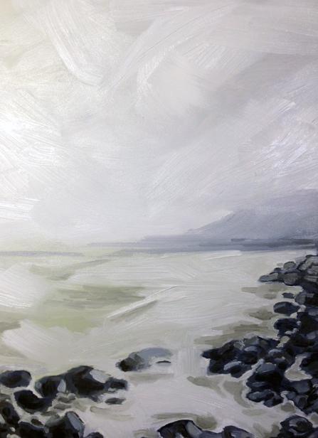 New Year Stroll, 8 by 10, oil on panel sold