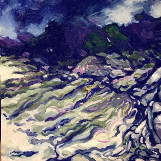 Jumbly Coast 10 by 10 oil on canvas