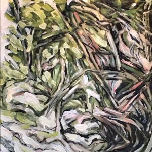 """""""Twirls"""" Oil on Canvas, 24 y 24, 550.00"""