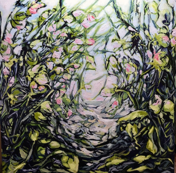 Beach Tangle 24 by 24, acrylic on Canvas 550.00